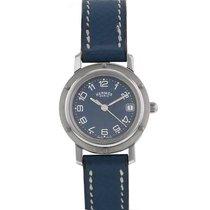 Hermès Clipper Stahl 24mm Blau Arabisch