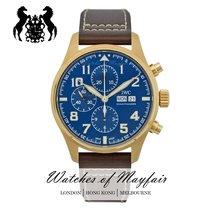 IWC Красное золото Автоподзавод Синий 43mm новые Pilot Chronograph