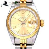 Rolex Lady-Datejust Золото/Cталь 26mm Цвета шампань