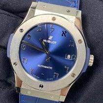 Hublot Classic Fusion Blue Titanium 45mm Blue No numerals United States of America, New York, Manhattan