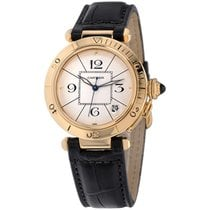Cartier Pasha Yellow gold 38mm Silver Arabic numerals United States of America, New York, Greenvale