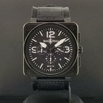 Bell & Ross Steel Automatic Black 46mm pre-owned BR 01-94 Chronographe
