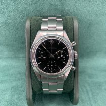 Rolex Chronograph Steel 36mm Black No numerals