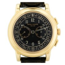 Patek Philippe Chronograph Yellow gold 42mm Black