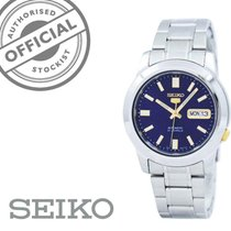 Seiko 5 Steel 38mm Blue No numerals