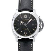 Panerai Acero Automático Negro 44mm usados Luminor 1950 3 Days GMT Automatic