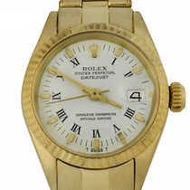 Rolex Yellow gold Automatic White Roman numerals 26mm pre-owned Oyster Perpetual Lady Date