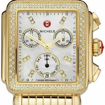 Michele Yellow gold Chronograph new Deco