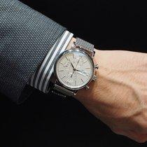 IWC Portofino Chronograph Сталь 42mm Cеребро Без цифр