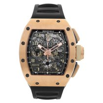 Richard Mille RM 011 Roségold 42mm Transparent Arabisch