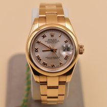 Rolex Rose gold Automatic Pink Roman numerals 26mm pre-owned Lady-Datejust