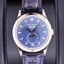 Patek Philippe Pозовое золото Автоподзавод Синий 38.5mm новые Annual Calendar