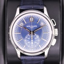 Patek Philippe Annual Calendar Chronograph Platinum 42mm Blue No numerals United States of America, New York, New York