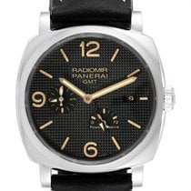 Panerai Radiomir 1940 pre-owned 45mm Black Date GMT Leather