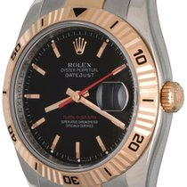 Rolex Datejust Turn-O-Graph pre-owned 36mm Black Gold/Steel