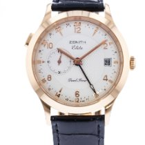 Zenith Rose gold Automatic Silver 39mm pre-owned Elite