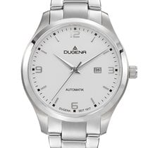 Dugena Steel Automatic White 33mm new