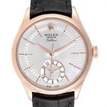Rolex Cellini Dual Time Ouro rosa 39mm Prata