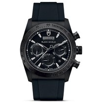 Tudor Fastrider Black Shield new Automatic Chronograph Watch with original box and original papers 42000CN-0018
