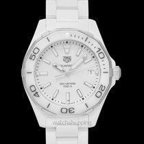 TAG Heuer Ceramic Quartz White 35mm new Aquaracer Lady