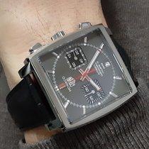 TAG Heuer Monaco Calibre 12 Steel 39mm Grey No numerals