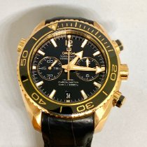 Omega Seamaster Planet Ocean Chronograph Or rose 45.5mm Noir Sans chiffres