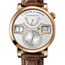 A. Lange & Söhne Rose gold Manual winding Silver Arabic numerals 41.9mm new Zeitwerk