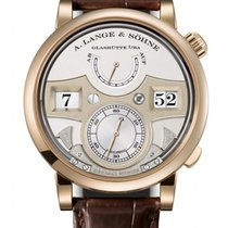 A. Lange & Söhne Yellow gold Manual winding Black Arabic numerals 44.2mm new Zeitwerk