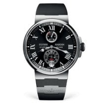 Ulysse Nardin Сталь Автоподзавод Чёрный Римские 45mm новые Marine Chronometer Manufacture