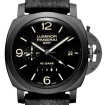 Panerai Ceramic Automatic Black 44mm new Luminor 1950 10 Days GMT
