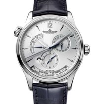 Jaeger-LeCoultre Master Geographic Acero 39mm Plata Árabes