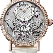 Breguet Rose gold Automatic Transparent Arabic numerals 37mm new Tradition