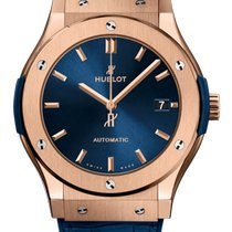 Hublot Rose gold Automatic Blue 45mm new Classic Fusion Blue