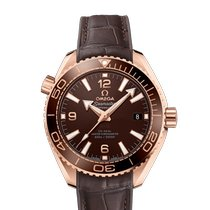 Omega Rose gold Automatic Brown Arabic numerals 39.5mm new Seamaster Planet Ocean