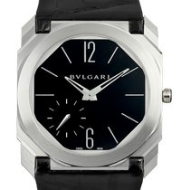 Bulgari White gold Automatic Black Roman numerals 40mm new Octo