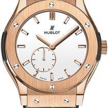 Hublot Classic Fusion Ultra-Thin Oro rosa 45mm Blanco