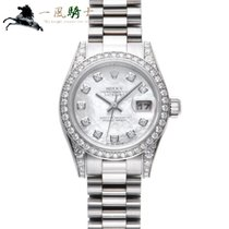 Rolex Lady-Datejust Or blanc 26mm Blanc