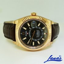 Rolex Sky-Dweller Rose gold 42mm Brown Arabic numerals United States of America, New York, Massapequa