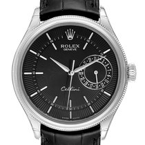 Rolex Cellini Date Vitguld 39mm Svart