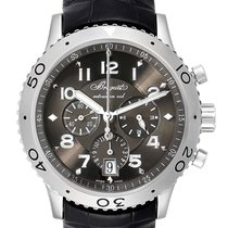 Breguet Type XX - XXI - XXII pre-owned 42.5mm Chronograph Flyback Date Leather