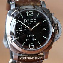 Panerai Luminor 1950 8 Days GMT pre-owned 44mm Black Date GMT Buckle