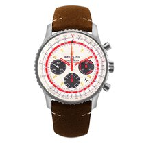 Breitling AB01219A1G1X1 Staal Navitimer 1 B01 Chronograph 43 43mm nieuw