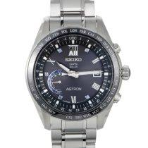 Seiko Astron GPS Solar Chronograph pre-owned Black Date GMT Titanium