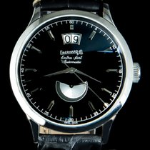 Eberhard & Co. Extra-Fort Steel 39mm Black No numerals