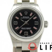 Rolex Oyster Perpetual 26 Staal 25mm Zwart