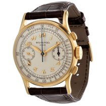 Patek Philippe Chronograph Yellow gold 33mm Silver (solid) Arabic numerals United States of America, California, Los Angeles