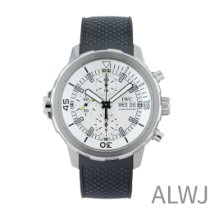 IWC Aquatimer Chronograph pre-owned 44mm Silver Chronograph Date Rubber