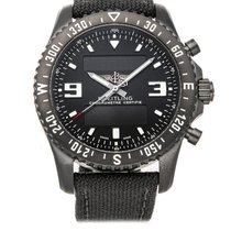 Breitling Chronospace Military Сталь 46mm Черный Aрабские