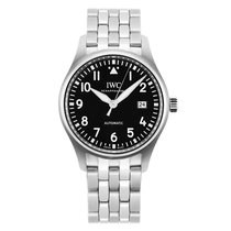IWC Silver Automatic Black 36mm new Pilot's Watch Automatic 36