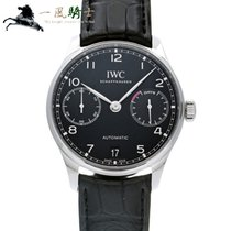 IWC Portuguese Automatic pre-owned 42.3mm Black Leather